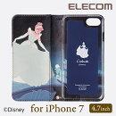 iPhone7用ソフトレザーカバー/ハピネスムービー(Disney/プリンセス/シンデレラ):PM-A16MPLFDNYG5[ELECOM(エレコム)]