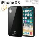エレコムダイレクトショップで買える「エレコム iPhone XR ケース ガラスケース GRAN GLASS ブラック スマホケース iphoneケース PM-A18CHVCG3BK」の画像です。価格は108円になります。
