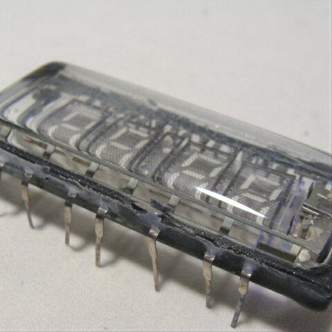 ロシア製蛍光表示管 VFD IVL2-7/5 デジタルクロック 時計に ニキシー管時計 VFD時計 自作パーツ(1本)