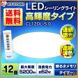 シーリングライト LED 12畳 調色 5200lm CL12DL-5.0 アイリスオーヤマ シンプル 照明 ライト リモコン付 インテリア照明 おしゃれ 新生活 寝室 調光10段階【●2】[ck]【あす楽】