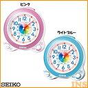 知育目覚まし時計 セイコー KR887L・KR887P ライトブルー・ピンク【D】【HD】(時計/ブランド/置時計/アラーム/新生活/卓上)