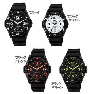 【時計】ポップでスタイリッシュ!腕時計Q&Q13カラー【ウォッチアームウォッチうで時計とけいクロック新入学新生活新成人】シチズンVR44-001・ブラック【D】【B】【メール便】