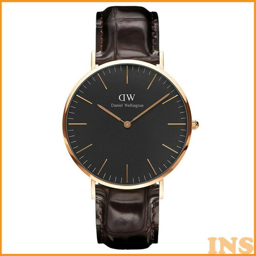 Daniel Wellington 40mm Rose Gold Classic Black York DW00100128 送料無料 時計 腕時計 アナログ...