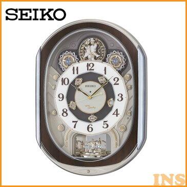 【250円クーポン対象◎】電波からくり時計 RE578B 送料無料 SEIKO 掛け時計 壁掛け からくり時計 電波時計 アナログ スイープ メロディ 音量調節 セイコークロック 【TC】