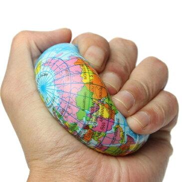 新品 送料無料●固め地球儀スクイシーボール 地球 スクーズボール 約10cm● おもちゃ スクイーズ 握る ストレス解消 手が寂しい もちもち 手持ち無沙汰 世界地図 発泡スチロール