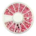 【送料無料】 3D ピンク ピンクストーン 約200個 サイズ5種類 ネイルアート デコレーション ネイルパーツ デコネイル用 ラインストーン ネイリスト デザイン セルフネイル アート 可愛い pink