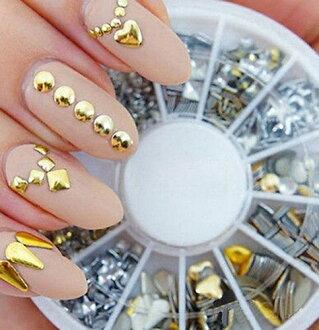 品牌新自由航運 3D 指甲裝修大約 200,水晶指甲零部件 dekonail 金屬可愛 3D 美甲師自我美甲藝術搜索: 水鑽