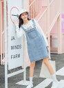 レディース 韓国ファッション サロペット ジャンスカ ジャン...