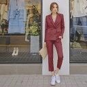 レディース 韓国ファッション 上下2点セット スーツ セット...