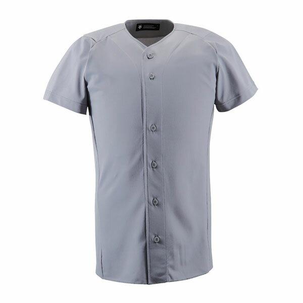 送料無料 デサント(DESCENTE) フルオープンシヤツ 野球 ソフト ユニホーム メンズ シャツ ZE-DB1210 □