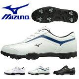 送料無料 軽量 ゴルフシューズ ミズノ MIZUNO メンズ T-ZOID ゴルフ ソフトスパイク シューズ 靴 シューレース 靴紐 ホワイト 白 スポーツ 得割20