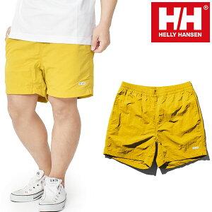 送料無料 水陸両用 ショートパンツ HELLY HANSEN ヘリーハンセン BASK Shorts バスクショーツ メンズ ハーフパンツ 短パン イエロー he72042