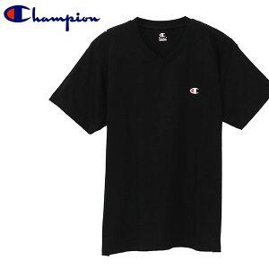 ゆうパケット対応可能!半袖 Tシャツ チャンピオン Champion メンズ VネックTシャツ ワンポイント ロゴ 吸汗速乾 インナー アンダーウェア ホワイト ブラック 白 黒 CM1HR202