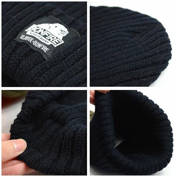 ネコポス便対応可能!ニット帽ボンファイアBONFIREビーニーYETILOGOBEANIEX-LARGEエクストララージコラボ帽子ニットキャップCAPスノボスノーボードスノーダブルネーム25%off