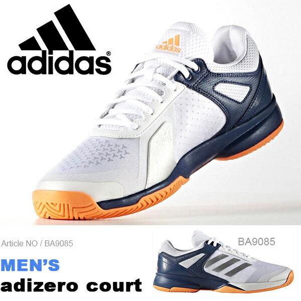 送料無料 テニスシューズ アディダス adidas メンズ アディゼロ コート オールコート用…