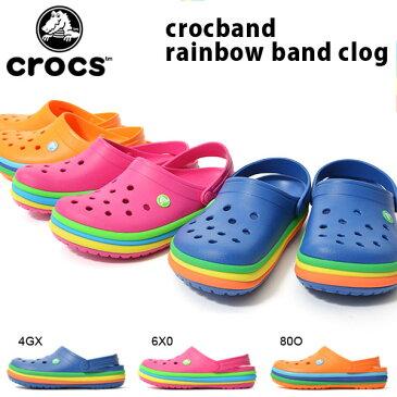 クロックス CROCS クロックバンド レインボー バンド クロッグ メンズ レディース サンダル クロッグサンダル シューズ 靴 日本正規品 205212 2018春夏新作