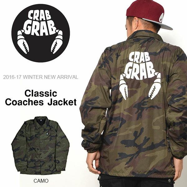 送料無料 コーチジャケット クラブグラブ CRAB GRAB メンズ Classic Coaches Jacket ナイロンジャケット ウインドブレーカー スケート ロゴ スノボ スケボー 国内正規品 スノーボード