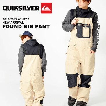 送料無料 スノーボードウェア QUIKSILVER クイックシルバー メンズ FOUND BIB PANT スノボ スノーボード スノー ビブパンツ ウェア 2018-2019冬新作 18-19 18/19 10%off