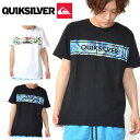 半袖Tシャツ QUIKSILVER クイックシルバー メンズ FRONTLINE ISLAND ST サーフ ロゴ プリント Tシャツ プリントTシャツ ロゴTシャツ 2019春夏新作 30%off