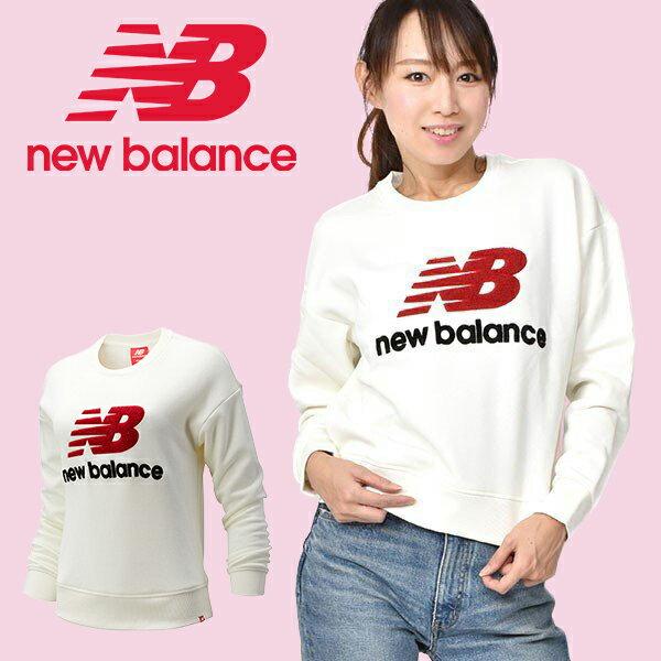 最大1000円OFFクーポン配布中 もこもこロゴスウェットトレーナーnewbalanceニューバランスレディースNBアスレチッ
