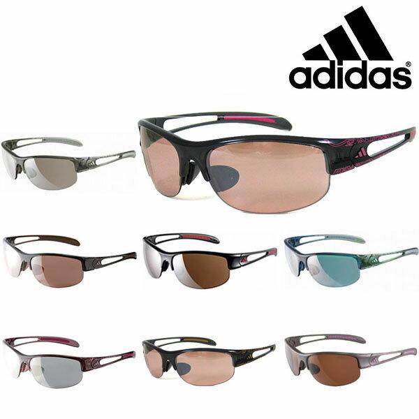 送料無料スポーツサングラスアディダスadidasレディースa389ADILIBRIAHALFRIMSランニングマラソンゴルフ釣り自転車テニスサイクリング紫外線対策UVカット
