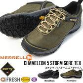 送料無料 アウトドア シューズ メレル MERRELL CHAMELEON5 STORM GORE-TEX カメレオン5 ストーム ゴアテックス M575499 トレッキング 登山 靴 10%off