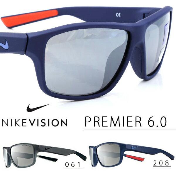 送料無料スポーツサングラスナイキNIKEPREMIER6.0NIKEVISIONナイキヴィジョンゴルフランニングテニスサイクリング自転車カジュアル紫外線対策UVカット