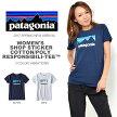 半袖TシャツパタゴニアPatagoniaレディースショップステッカーコットンポリTシャツ2017春新作国内正規品フロントプリント