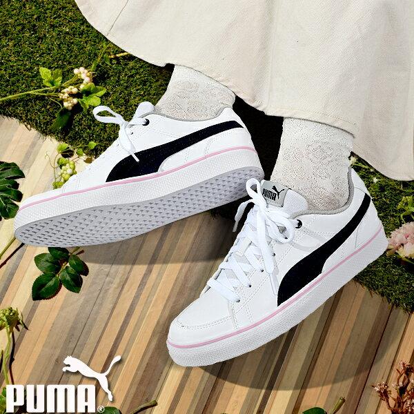 25%OFFプーマスニーカーレディースPUMAキッズコートVULCV2BGシューズ靴ローカット子供シューズ子供靴通学白ホワイトC