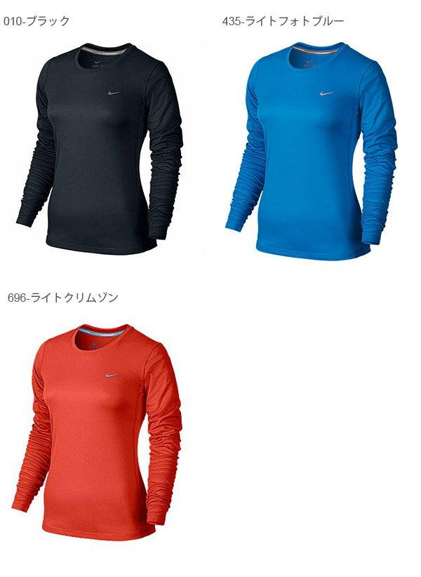 紫外線防止UVカットナイキNIKEドライフィットマイラー2UVロングスリーブトップレディース長袖Tシャツランニングシャツスポーツウェアランニングジョギングジム2016冬新色31%off