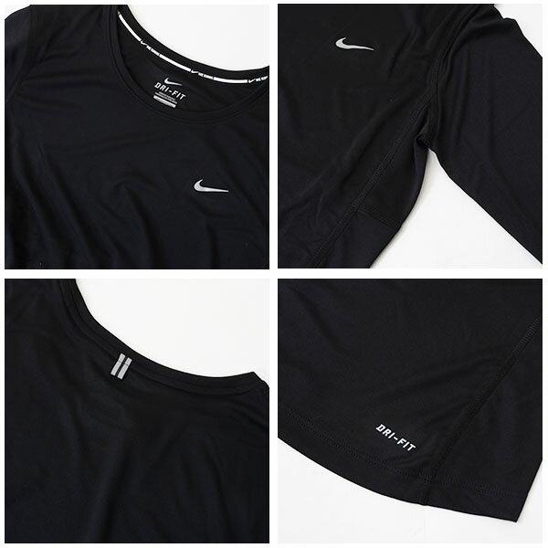 紫外線防止UVカットナイキNIKEドライフィットマイラー2UVロングスリーブトップレディース長袖Tシャツランニングシャツスポーツウェアランニングジョギングジム31%off