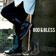 送料無料!!ロングエンジニアブーツ メンズ レディース ゴッドブレス 9810 God&Bless FAKE LEATHER ENGINEER BOOTS ロングブーツ エンジニアブーツ【あす楽配送】
