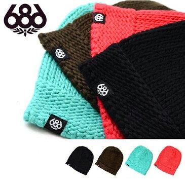 ニット帽 ビーニー 686 SIX EIGHT SIX シックスエイトシックス VARIETY BEANIE 折り返し レディース スノボ スノーボード 帽子 スキー ウインタースポーツ 得割30
