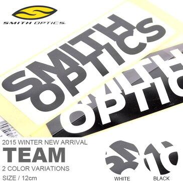 ゆうパケット対応可能! ロゴステッカー SMITH OPTICS スミス 12cm TEAM ロゴ シール ステッカー スノーボード スケボー 車 バイク スーツケース