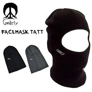 フェイスマスク 帽子 ナーリー GNARLY FACEMASK TAT ニット バラクラバ スノーボード メンズ 紳士 スノボ スノー スケート SNOWBOARD 国内正規品 目だし帽 得割25