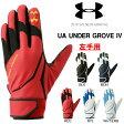 送料無料 アンダーアーマー UNDER ARMOUR UA アンダーグローブIV 左手用 メンズ 野球 ベースボール 手袋 守備用 EBB2227
