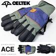 送料無料 CELTEK セルテック グローブ ACE GLOVE WRANGLER メンズ スノーボード スノボ スノー スキー 国内正規品 手袋 【得割40】