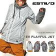 送料無料 スノーボードウェア エスティボ ESTIVO EV PLAYFUL JKT メンズ ジャケット スノボ スノーボード スノーボードウエア SNOWBOARD WEAR スキー 60%off