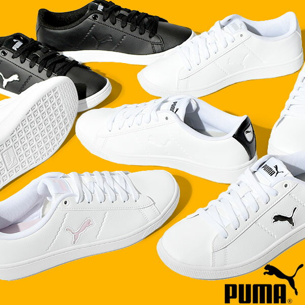 送料無料 プーマ スニーカー PUMA レディース プーマ ビッキー V2 キャット ローカット シューズ 靴 ホワイト ブラック 白 黒 2021春新作 得割10 374904画像