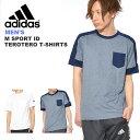 30%off 半袖 Tシャツ アディダス adidas メンズ M SPORT ID テロテロ Tシャツ 胸ポケット スポーツウェア カジュアル ウェア 2018新作
