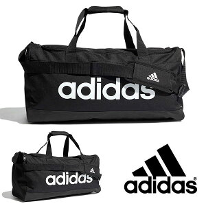 アディダス バッグ adidas LINEAR ダッフルバッグ M 39リットル 斜めがけ ショルダーバッグ スポーツバッグ 学校 通学 部活 クラブ 合宿 遠征 かばん 2021春新作 得割20 60205