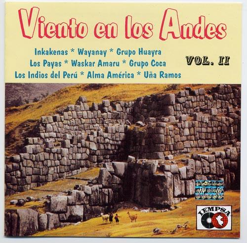 フォルクローレ音楽 NO-42 サンポーニャ ケーナ CD ペルー アンデス 民族音楽 Viento en los Andesu Vol.2