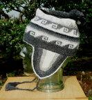 アルパカ100% 耳付き帽子 A-24 フォルクローレ音楽 民族衣装 民族帽子 ペルー アンデス 幾何学柄