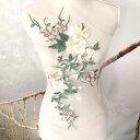 モチーフ 特大 薔薇模様 刺繍 チュール ベージュ レオタード 装飾 ...