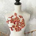 モチーフ 赤 ゴールド キラキラ フェザー ダンス 衣装 装飾 ハンド...