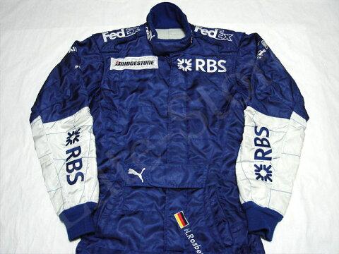 【送料無料】 ニコ・ロズベルグ 2005年 ウィリアムズ F1 支給品 開幕前 テスト期間限定 実使用 レーシングスーツ (海外直輸入 F1 非売品USEDグッズ メモラビリア)