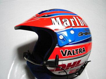 【送料無料】 マーカス・グロンホルム 2003年 WRC プジョー・マルボロ 支給品 タバコ版 ペルター製 実使用 ヘルメット(海外直輸入USED品 メモラビリア)