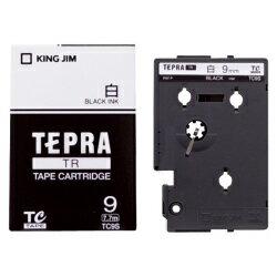〇キングジム(KING JIM) TRテープカートリッジ 白ラベル TC9S 9mm幅 白/黒文字