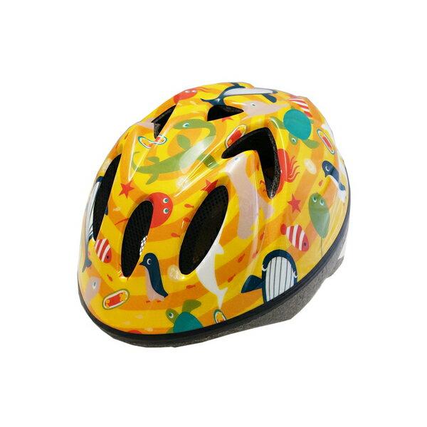 【徳島双輪】TETE スプラッシュハートオーシャンパークイエロー Sサイズ(52-56cm)キッズ・子供用ヘルメット