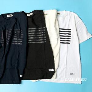 【メール便 送料無料】 Tシャツ メンズ 半袖CAMPFREE 星条旗 プリント 大人サイズ メンズ レディース 夏 半そで 綿100% コットンtシャツ 大きいサイズ ロゴt カットソー メンズtシャツ おしゃれ ロゴtシャツ ペア 白 黒 ホワイト ブラック
